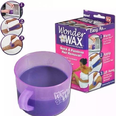 cera depilatoria en casa wonder wax microondas sin dolor