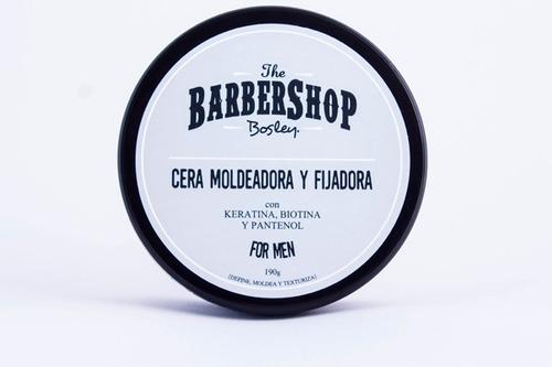 cera moldeadora barba bosley con keratina biotina barbershop