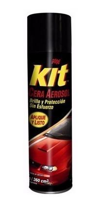 cera para autos en aerosol kit
