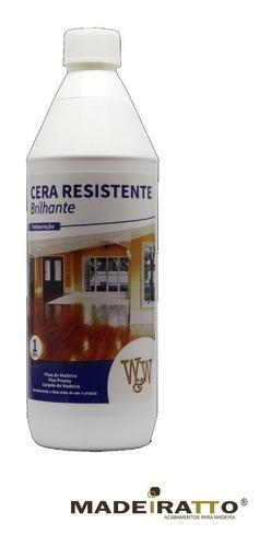 cera resistente p/ pisos com bona -  brilhante 1l - w&w
