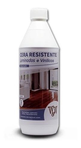cera resistente p/ pisos laminados -  brilhante 1l - w&w