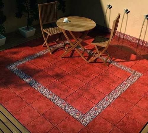 ceramica 40x40 cotto 1era cortines piso rojo cuotas colonial