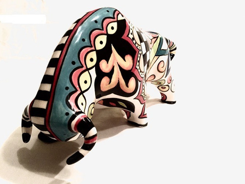 cerámica al horno toro mediano 28cm de largo x 16cm de alto