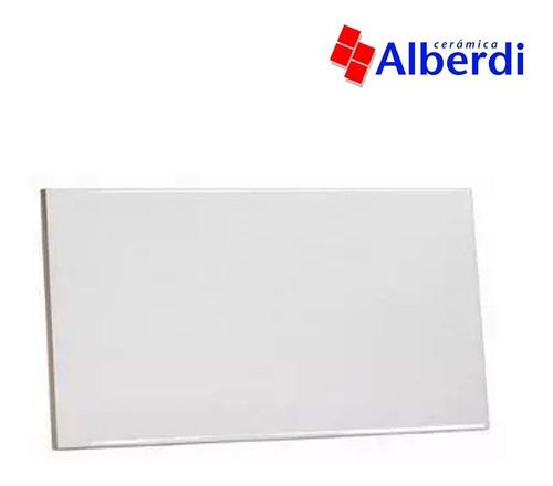 cerámica alberdi baikal 28x45 blanco liso brillante pared