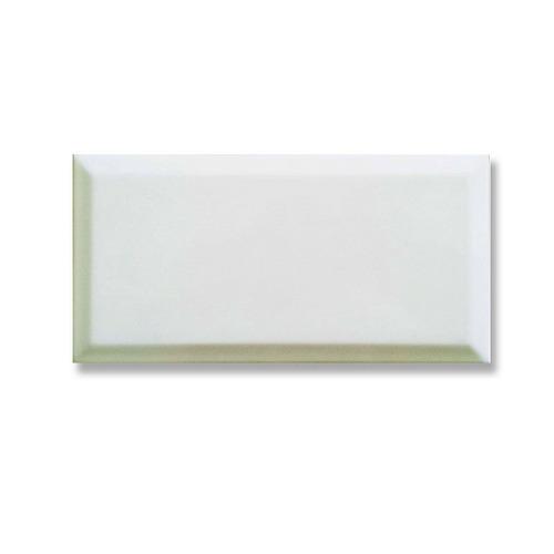ceramica azulejo biselado blanco brillante 7.5x15 new tioso