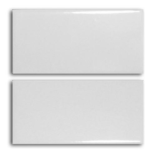 ceramica azulejo blanco brillante 7.5x15 estilo subte subway