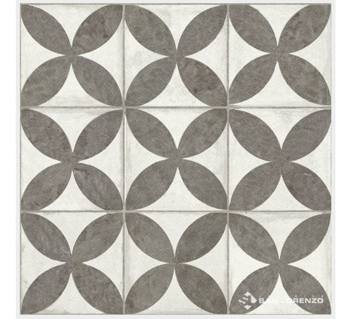 ceramica de piso flower black 45,3x45,3 1ra cal san lorenzo