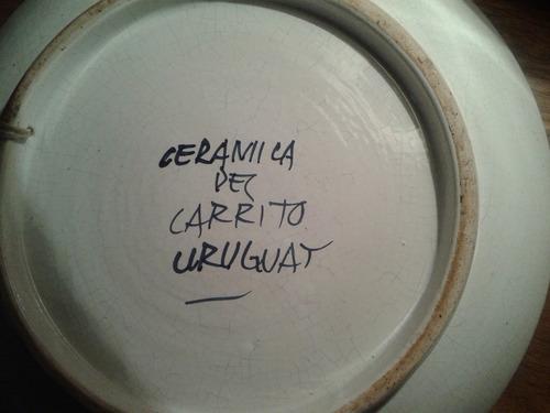 ceramica del carrito. platos.