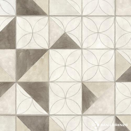 cerámica flower overlap tiza 45,3x45,3 1ra cal san lorenzo