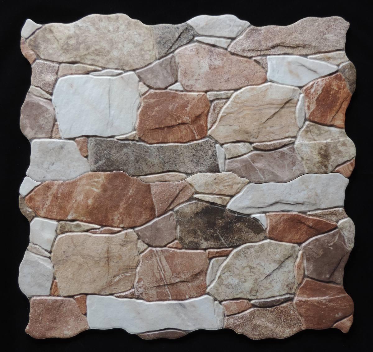 Cer mica hd tipo piedra rustica encastre pared for Ceramica en pared