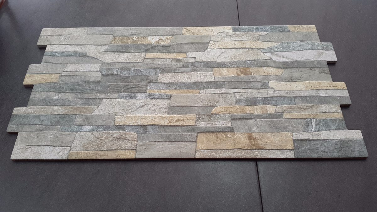 Ceramica imitacion piedra full hd color gris u s 30 00 for Baldosa pared piedra