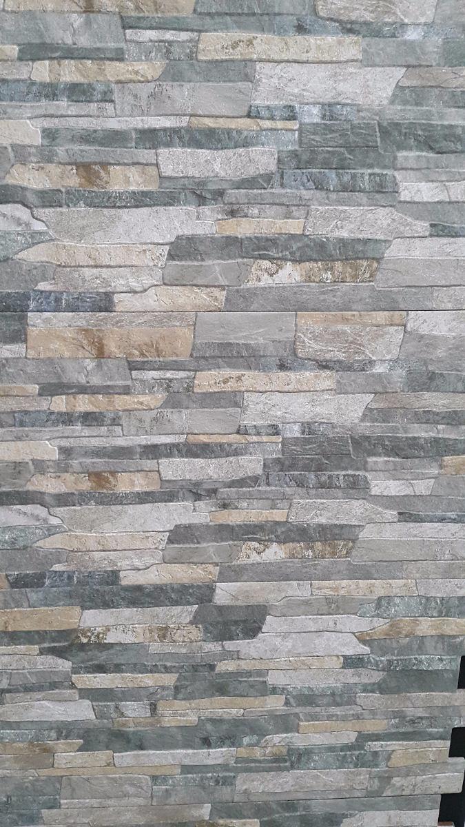 Ceramica imitacion piedra full hd color gris u s 30 00 for Ceramica para paredes exteriores