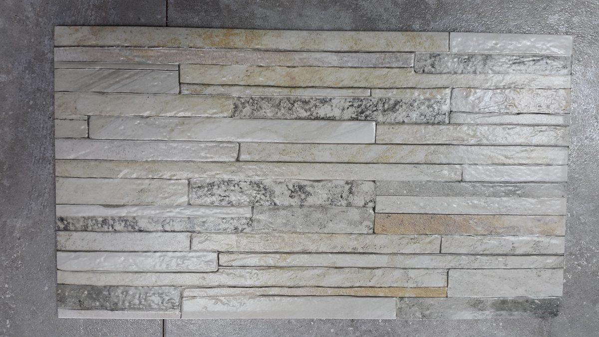 Ceramica imitacion piedra hd 32x57 cm gris 299 00 en for Ceramica para pared