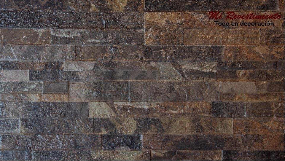 Ceramica Lourdes Muro Piedra Petroleo 31x53 1ra Calidad 35700 - Muro-piedra