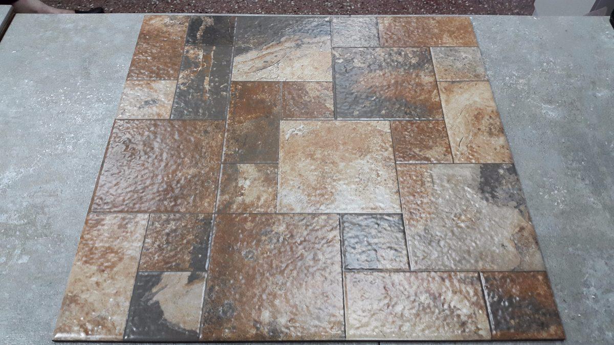 Ceramica piso 57x57 cm oxido marron interior exterior for Ceramica exterior