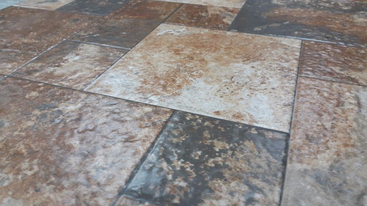 Ceramica piso 57x57 cm oxido marron interior exterior for Precio colocacion piso ceramico