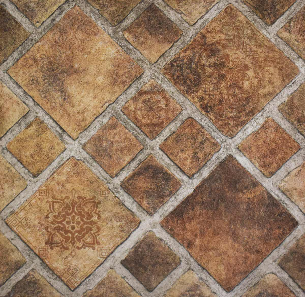 Cer mica piso roma cotto simil piedra 43x43 cer micas for Ceramicas castro