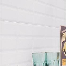 Ceramica Simil Biselada Axella Blanca Brillante 28x45