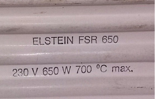cerámicas calefactores, 700w, 230v, alemanas.