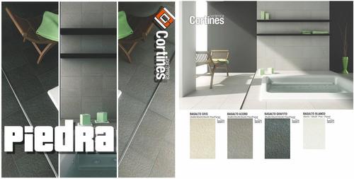ceramicas de piso y pared cortines basalto piedra 35x60 1ra