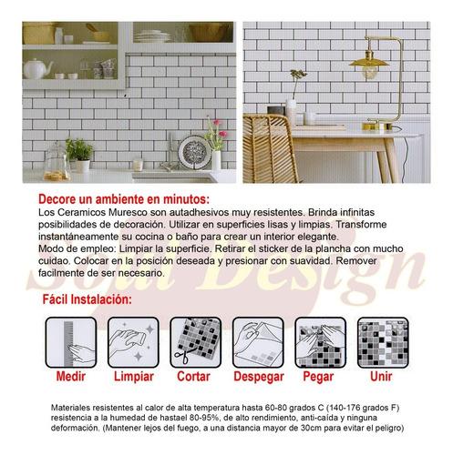 ceramicos autoadhesivos muresco pvc baño cocina azulejo soul