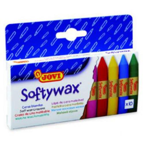 ceras blandas softywax jovi crayolas 10 colores- surtido