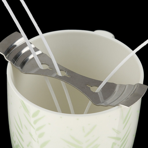 cerca 500g 100% pura soja + mechas pre enceradas 20cm p/vela