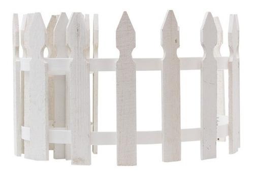 cerca blanca estacas madera jardín 29cm x 1.80m [2 tramos]