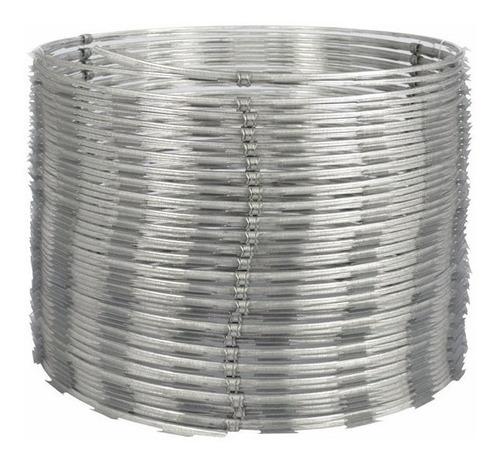 cerca concertina dupla clipada até 12 mts 45 cm profissional