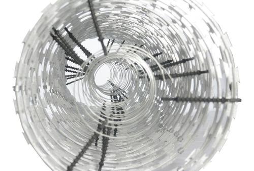 cerca concertina dupla inox eletrificada-p/24m - 45cm