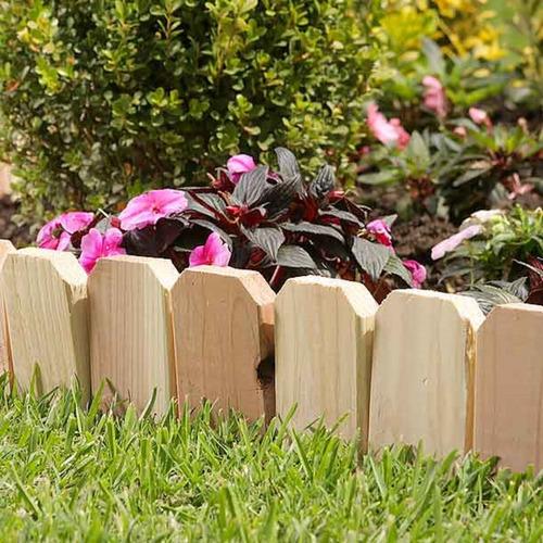 cerca de madera natural 13.5 cms de alto por 3 mts de largo