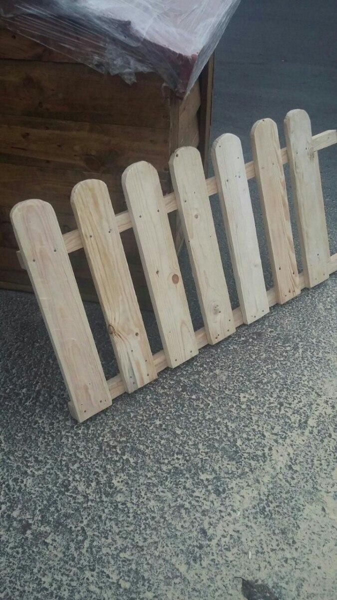 Cerca de madera para jardin en mercado libre for Galpon de madera para jardin