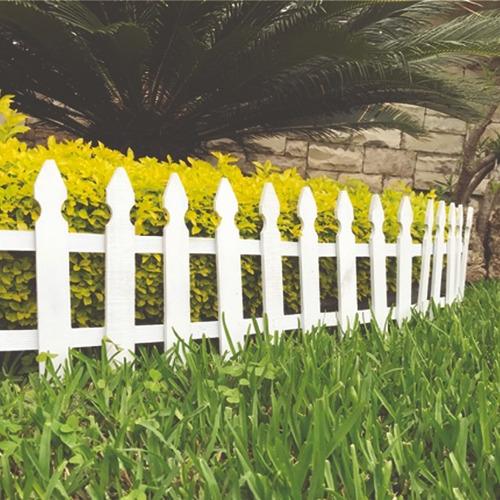 cerca de madera para jardín color blanco