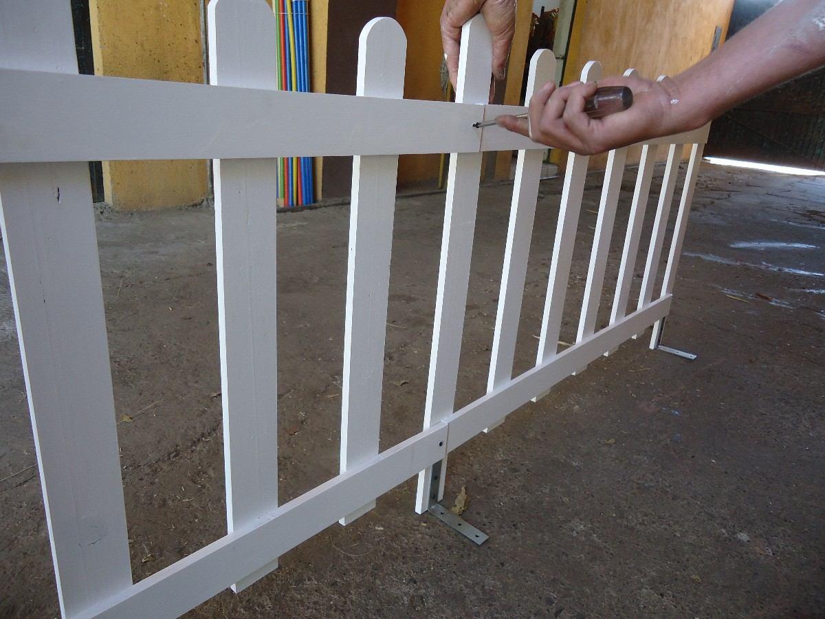 Cerca de madera para piso de concreto o exteriores 300 for Madera para jardin