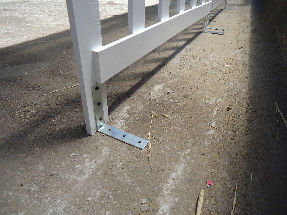 Cerca de madera para piso o concreto separaci n 5cm for Tablas de madera para exterior