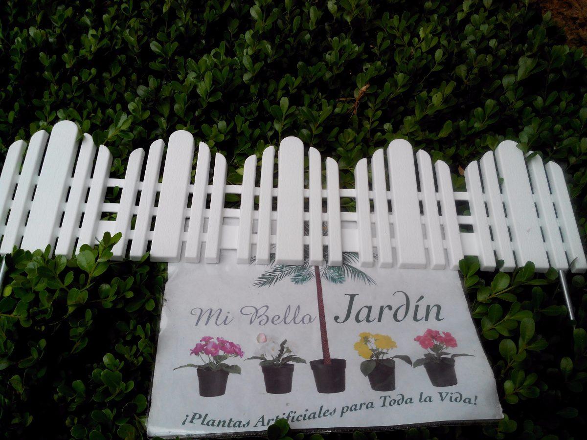 Cerca de plastico para jardin 1 en mercado libre - Cercas para jardines ...