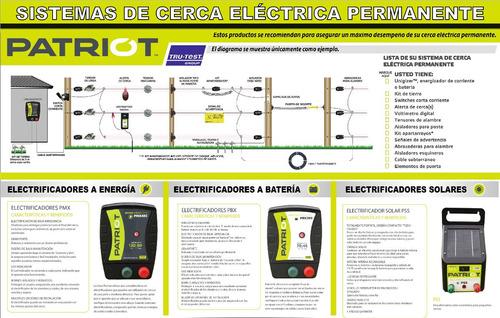cerca eléctrica patriot p30 99km bateria 110v ganado sukampo