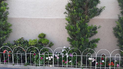 cerca grade de proteção p/ jardim - cor branco kit 9  c/