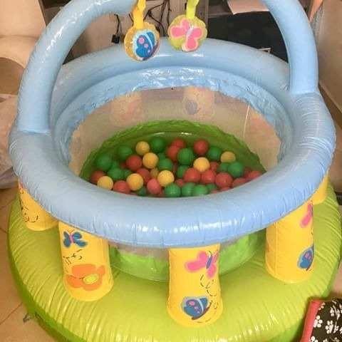 cercadinho pula pula inflavel infantil jump + 50 bolinhas
