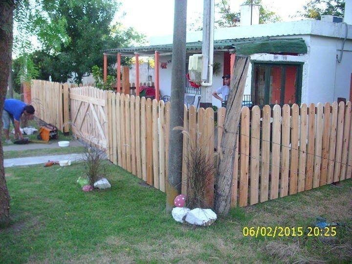 Cercas de madera en mercado libre - Cercas para jardines ...