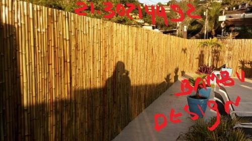cercas e tetos de bambu no rio de janeiro niteroi região dos