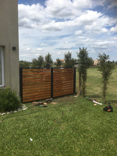 cerco cercos perimetrales empalizadas hierro y madera cercos