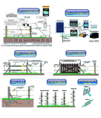 cerco electrico ganadero solar kit 60km