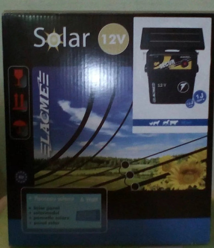cerco electrico ganadero solar lacme +panel solar +bat 25km