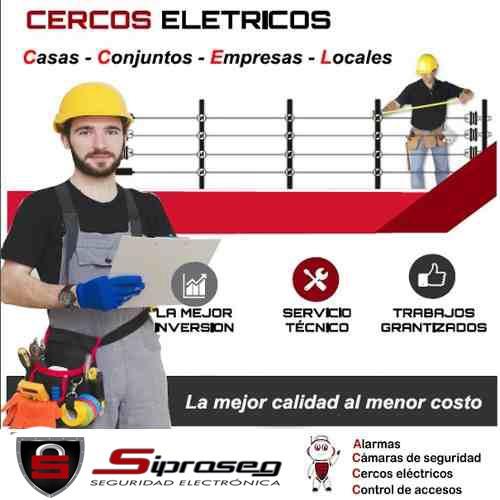 cerco electrico garantia - alarma - sirena -casas - locales