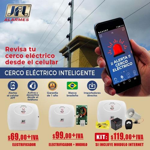 cerco electrico inteligente control desde el celular guayas