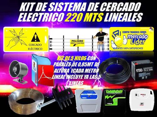 cerco electrico kit 220 mts energizador y mas listo instalar