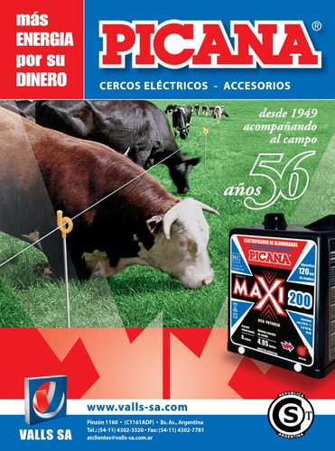 cerco eléctrico modulo solar 40 p/ ganado-picana-argentina