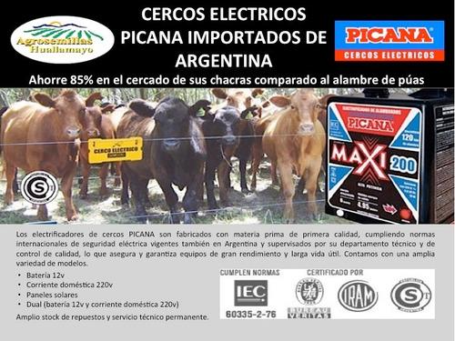 cerco eléctrico y accesorios para ganado marca picana
