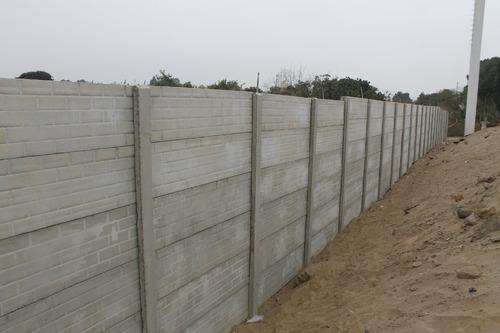 cerco perimetrico prefabricado de concreto